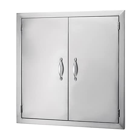 Happybuy BBQ Access Door 24u0026quot;Hx24u0026quot;W Double BBQ Island Door 304 Stainless Doors  sc 1 st  Amazon.com & Amazon.com : Happybuy BBQ Access Door 24