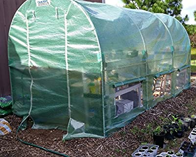Quictent Reinforced PE Cover 12' X 7' X 7' Portable Greenhouse Large Walk-in Green Garden Hot House