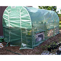 Quictent 2 Doors Reinforced PE Cover 12' X 7' X 7' Portable Greenhouse Large Walk-in Green Garden Hot House