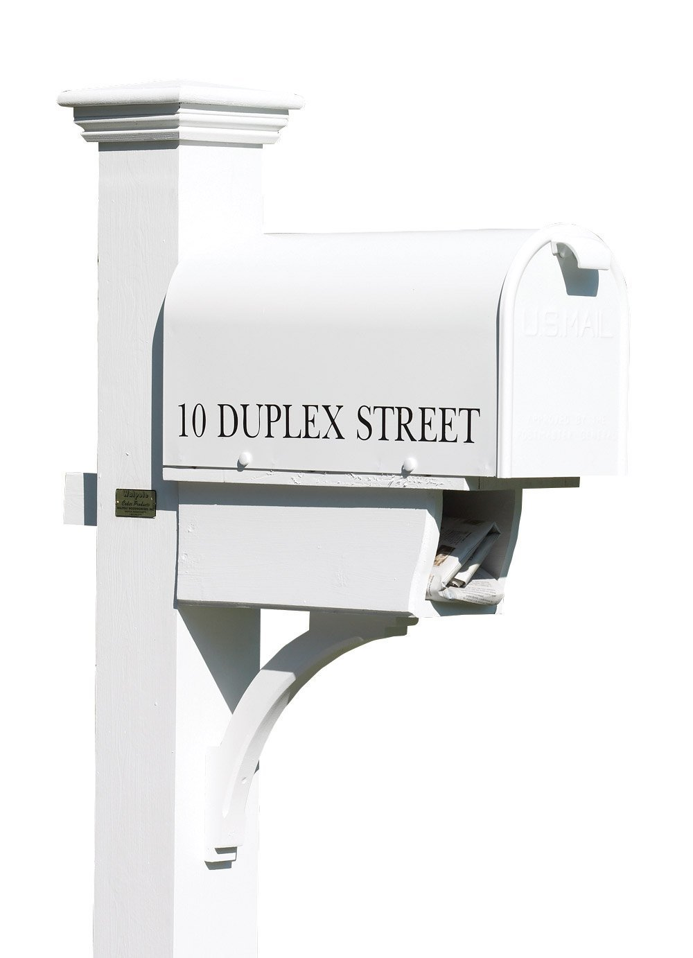 10-Inch High by 8-Inch Wide by 21-Inch Depth Good Directions Inc. Lazy Hill Farm Designs 999199 Bristol Mailbox Hand Fabricated White