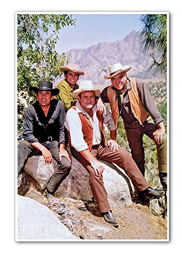 "Poster Bonanza Western Cast Vintage Cowboy Large 24"" x 36"""