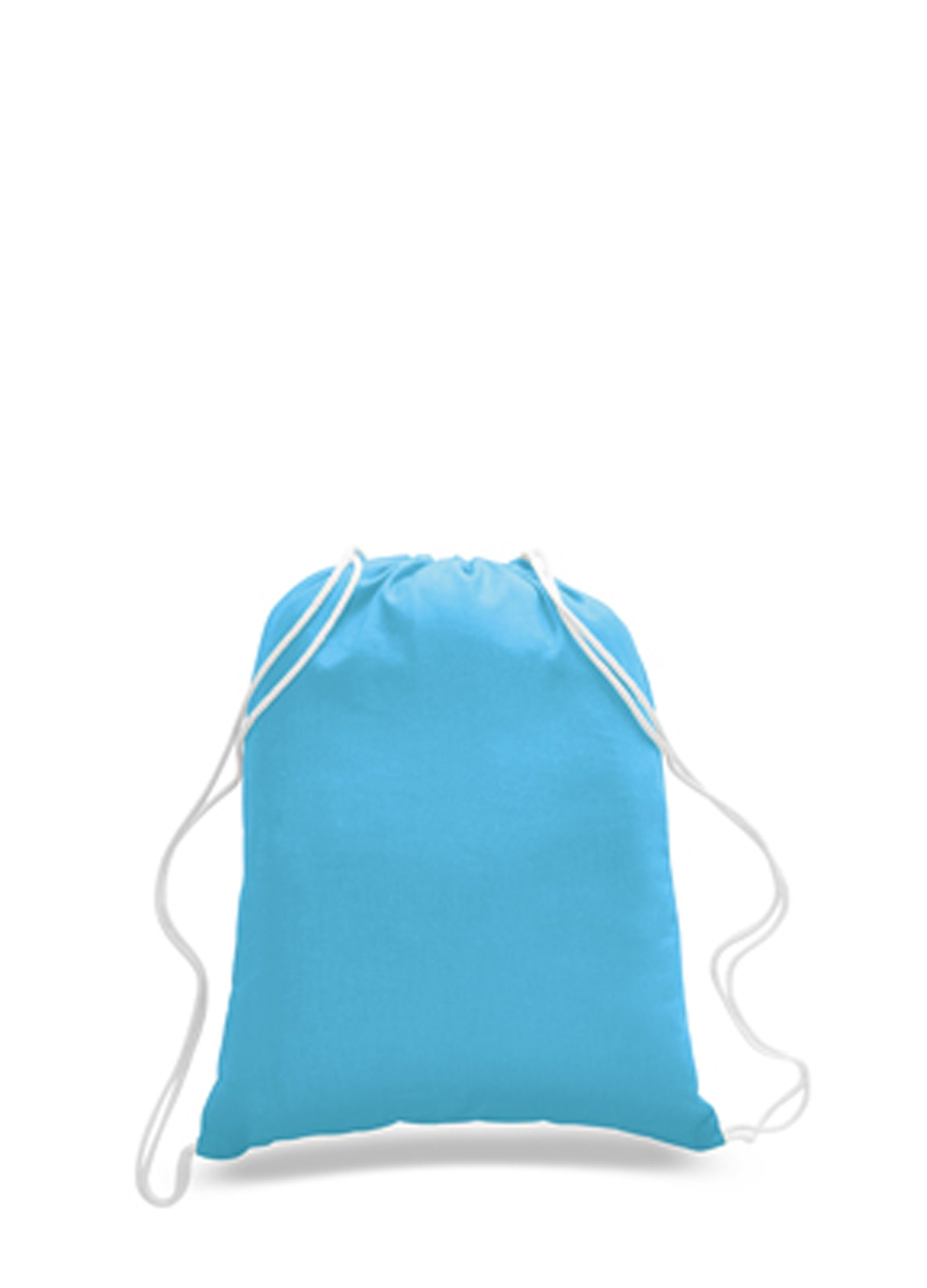 36 PACK - (3 Dozen) - Wholesale 100% Cotton Drawstring Backpack Bags - Arts and Crafts Bags - HTV - Vinyl - DIY - Screen Print - Embroidery Blanks Cinch Bags BULK Sack Packs - BPK18 (Turquoise)