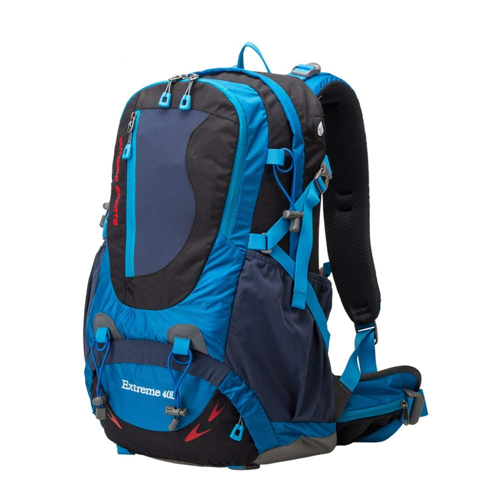 QP Outdoor Hiking Backpack - Large Capacity 40L Backpack/Men and Women Leisure Travel Backpack Water Repellent (Color : B)