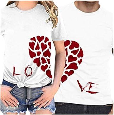 Camiseta día de San Valentín,ZODOF Camisetas Mujer Verano t-Shirt Amante Manga Corta Cuello Redondo Carta de Amor Impresa Camisetas Tops Blusas Talla Grande Verano Valentines Day Regalo(Hombres): Amazon.es: Relojes