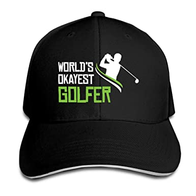 World s Okayest Golfer Mens Best Sunscreen Snapback Dad Hat at ... 0cfd7e54041