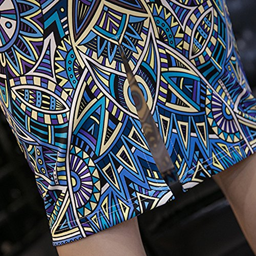 Droite Genou au Fleurs pour Courte Jupe Jupe Crayon D Midi Taille Haute Moulante Balai Jupe Femme wYUxq0Y7