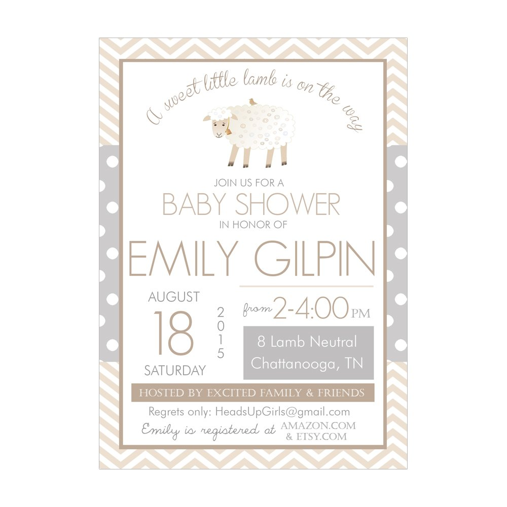 Amazon.com : Set of 12 Customizable Personalized Baby Shower ...