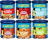 Cheap Planter's Peanut Variety Pack, 6 oz cans (Pack of 6) – Smoked, Sea Salt & Vinegar, Classic, Salted Caramel, Chipotle, Cocoa or Chili Lime