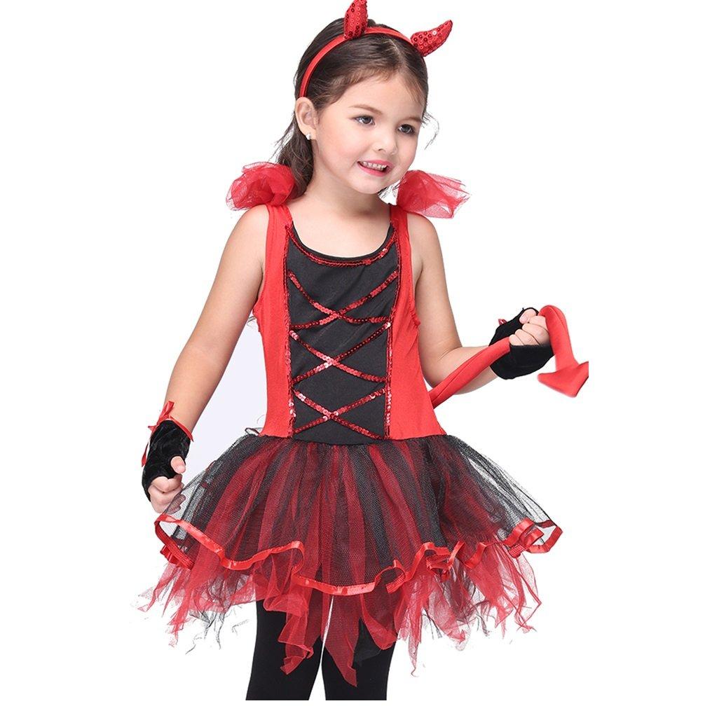 Girl's Halloween Cosplay Costume Suit Children's Dancewear Dancing Dress (Large) by KeepMoving (Image #1)