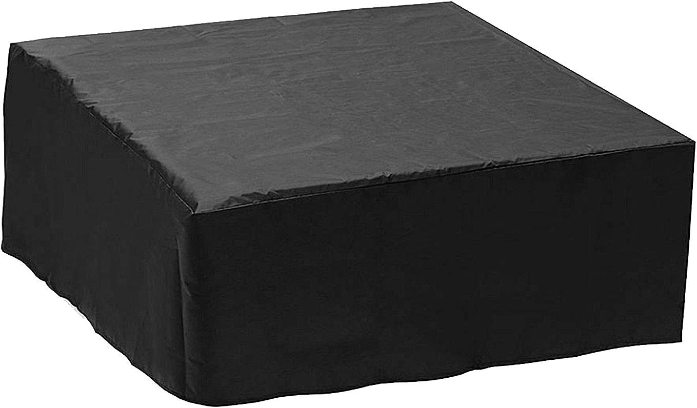 Hot Tub Cover Pool Cover Garden Furniture Cover Rain Cover, Outdoor Table Cover Oxford Fabric Waterproof Windproof Anti-UV Patio Protectors Patio Table Cover Protection (220 × 220 × 85cm,Black)