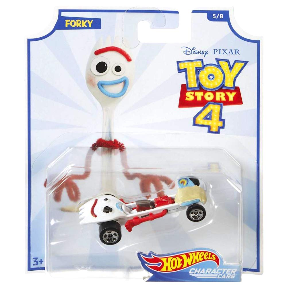 Hot Wheels Forky Toy Story 4 Character Car Diecast Car 1:64 Scale
