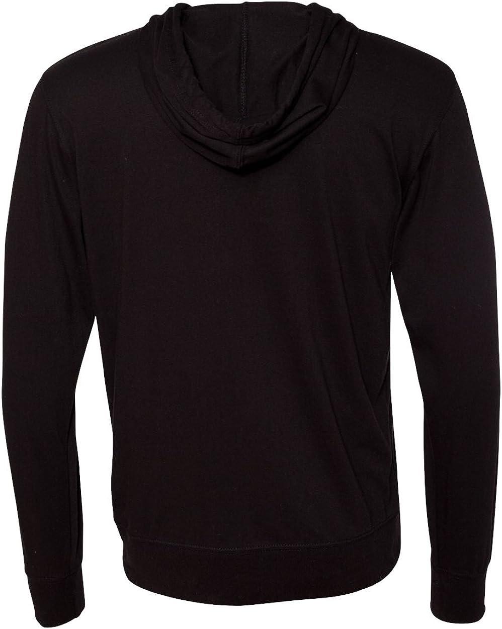 Mens Lightweight Jersey Hooded Full-Zip T-Shirt Hoodies in Sizes XS-2XL