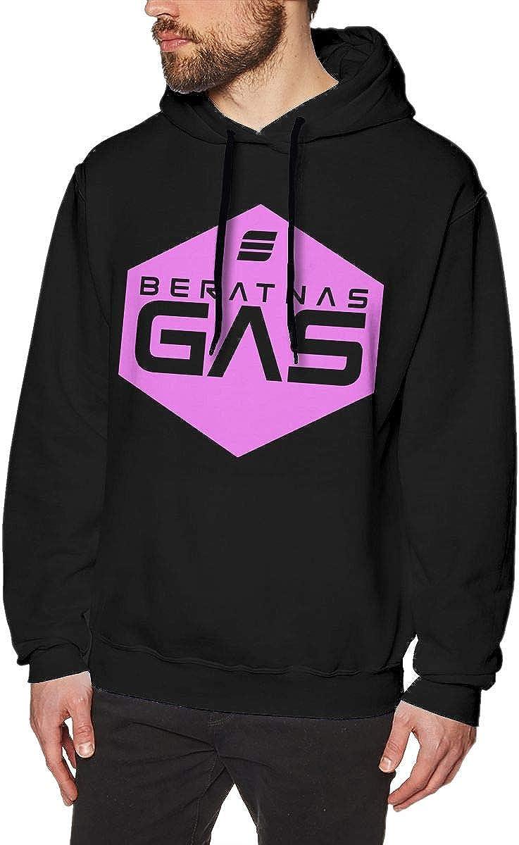 MUSICOT Pink/ã/€Beratnas Gas Mens Pullover Hooded Sweatshirt Cozy Sport Outwear Black