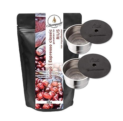 2 RIUS: 2 cápsulas recargables para máquinas de café CAFISSIMO® de las máquinas de