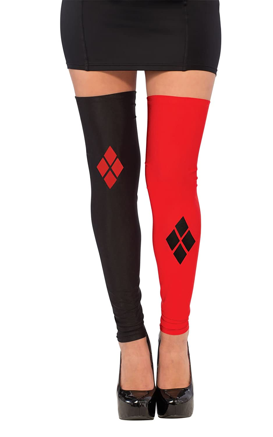 Rubie's Costume Co Women's Dc Superheroes Harley Quinn Thigh Highs Multi One Size Rubies Costumes - Apparel 32232