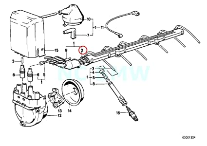 Amazon Com Bmw Genuine Ignition Wiring Tube Automotive