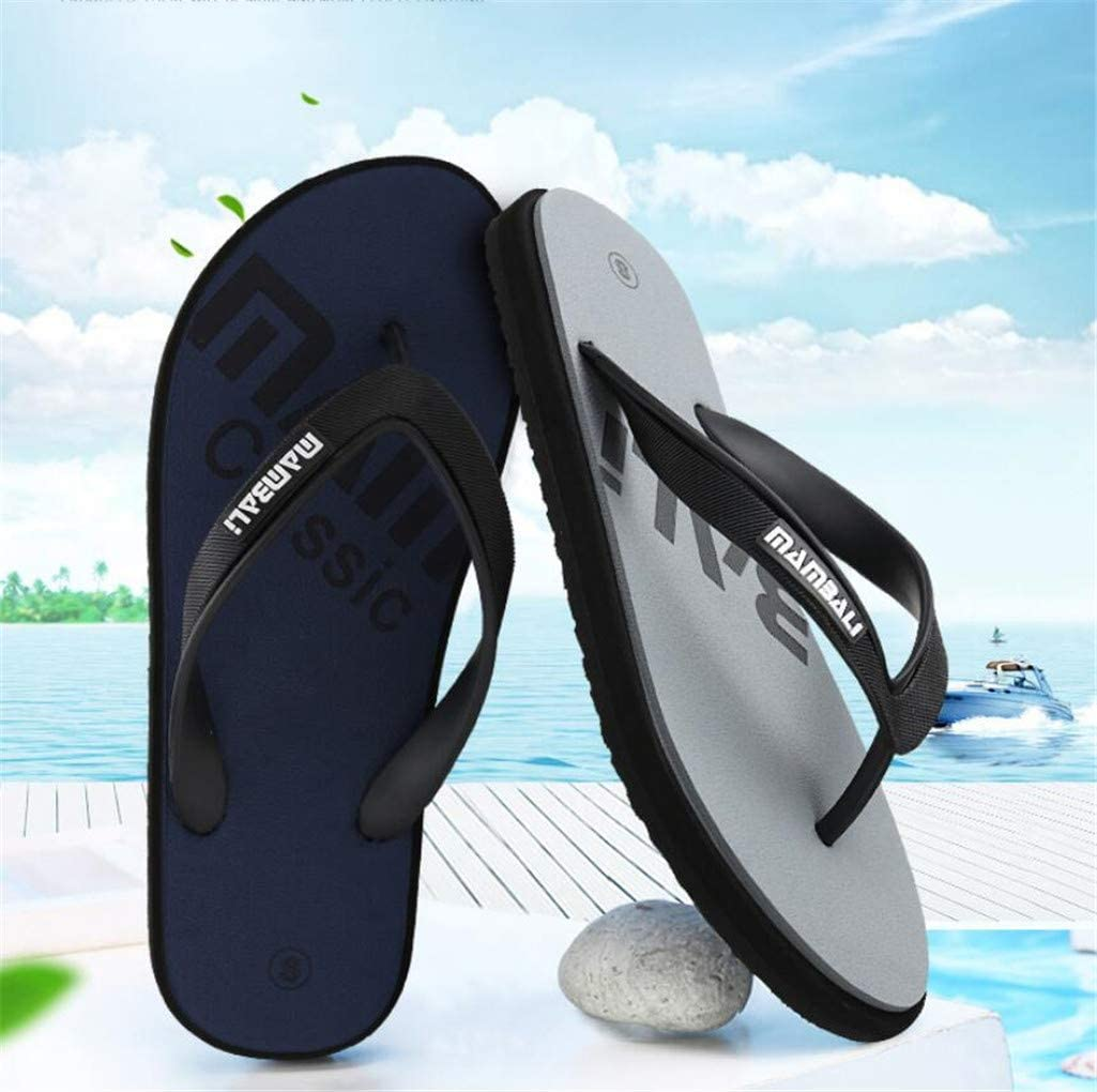 Shoexie Flip-Flop Male Sandals Summer Mens Non-Slip flip Flops Casual Fashion Beach Shoes Personality Outdoor Cool Drag,Green,L