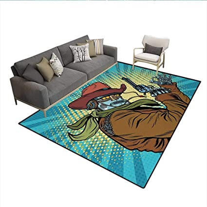 Amazon Com Floor Mat Steampunk And Western Style Robot