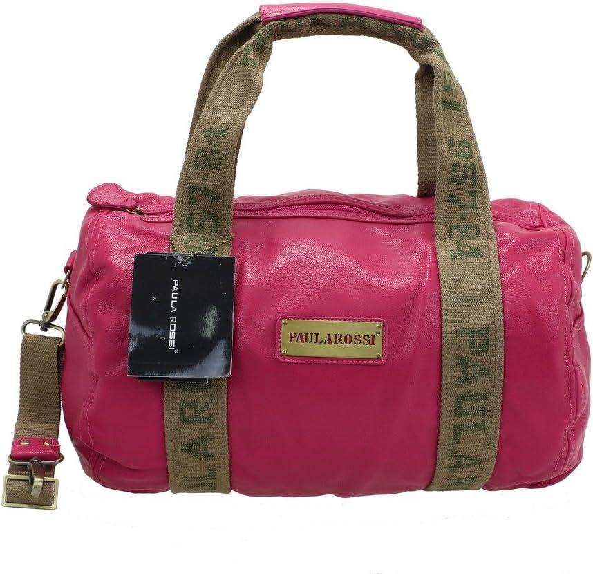 Paula Rossi Bolso estilo bolera para mujer, rosa (Rojo
