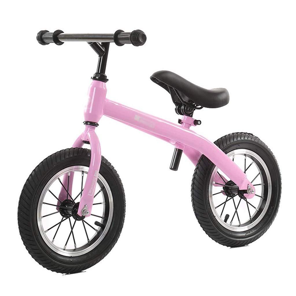 rose  Reconnaissant pour tout Enfant   De Voiture Footless Walker Coulissante Vélo   Bicycle 2-6 Ans Enfant Jouet Amortissant des Pneus en Caoutchouc for Enfant (Couleur   rose)
