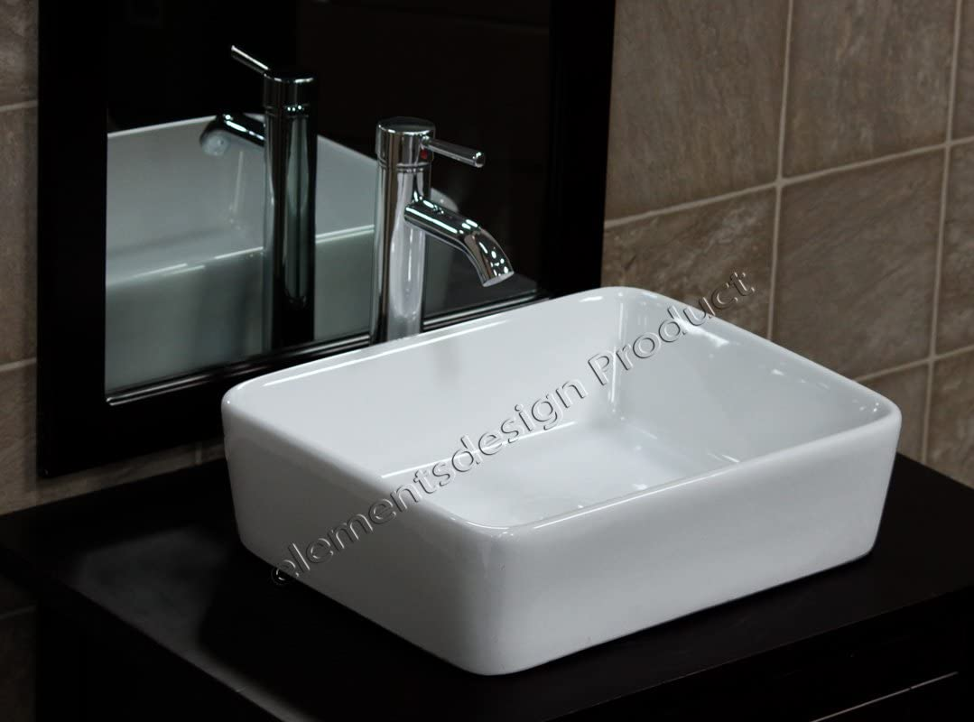 Bathroom Ceramic Porcelain Vessel Vanity Sink 7050 C3 combo free chrome faucet, Pop Up Drain