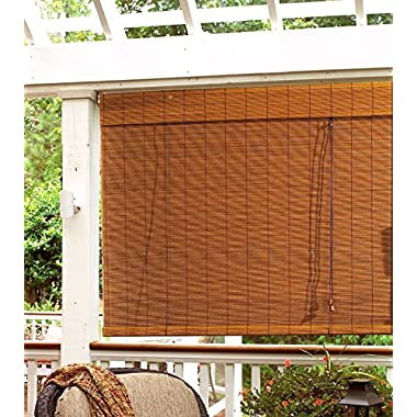 Radiance 0108308 Fruitwood Imperial Matchstick Bamboo Shade, Roll Up with 6-Inch Long Valance, 55-Inch Wide by 63-Inch Long