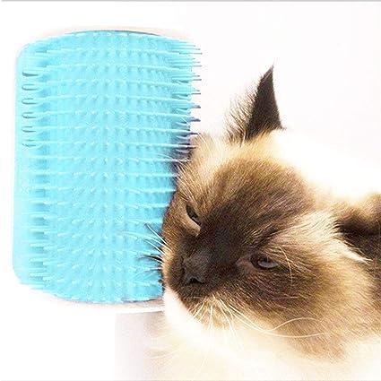 AUOKER - Cepillo de Esquina de Pared para Gato o Gato con Bolsa para Gatos,