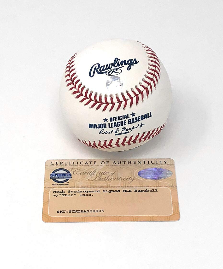 Noah Syndergaard New York Mets Signed Autograph Official MLB Baseball Inscribed THOR Steiner Sports Certified
