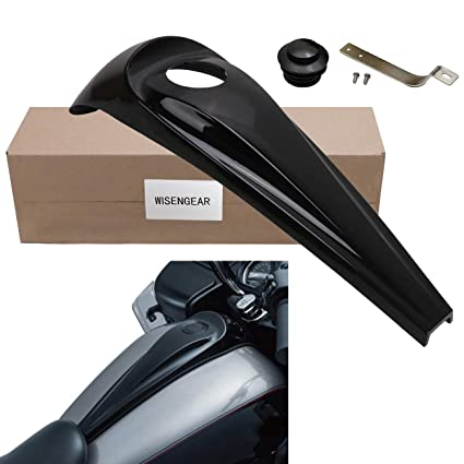 Smooth Dash Oil Fuel Tank Console Cover + Vented Gas Tank Cap Cover For  Harley Touring Electra Road Glide Street Glide Trikes FLHX FLTR (Aluminum