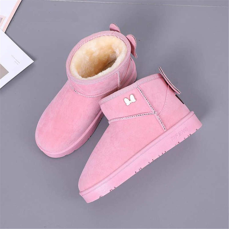 Kongsta Womens Boots Winter Warm Snow Mid Calf Women Ladies Girls Thick Plush Flock Shoes Ankle Zapatillas De High