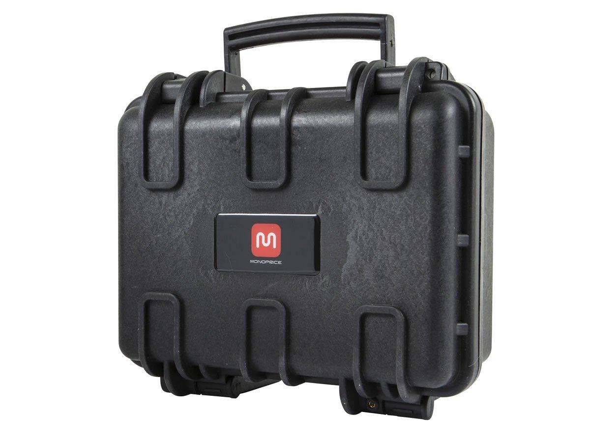 "Monoprice Weatherproof Hard Case with Customizable Foam, 12"" x 10"" x 6"""