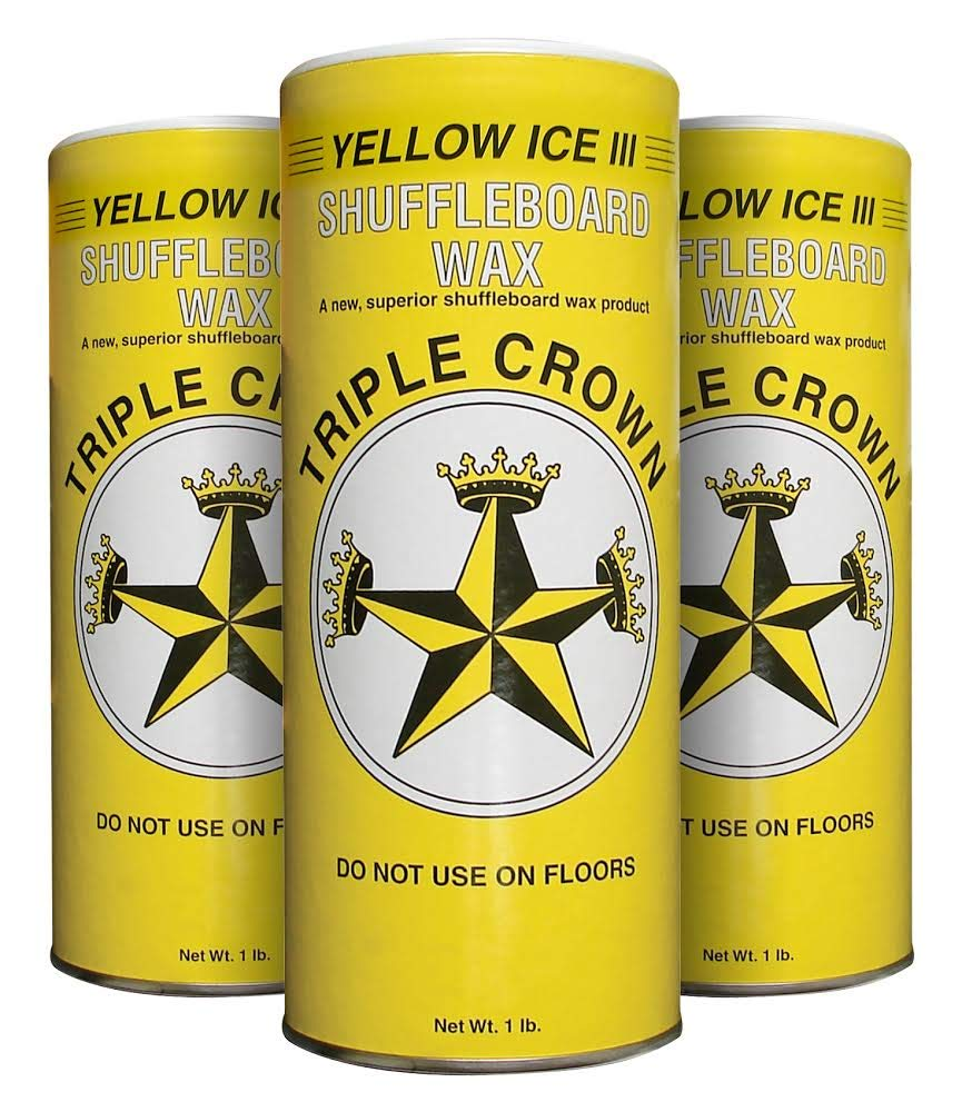 Triple Crown Yellow Ice III Shuffleboard Wax (Yellow Ice III 3-Pack) by Triple Crown
