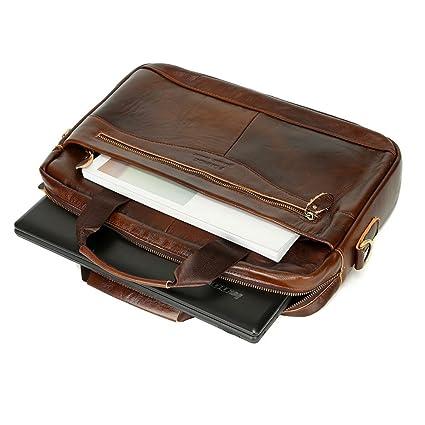 c510393c06 AIMEE7 Sacoche Bandouliere Homme Sac à bandoulière d'affaires Business en Cuir  Porte Document Portable Cartable Homme Vintage Loisir Sacoche ...