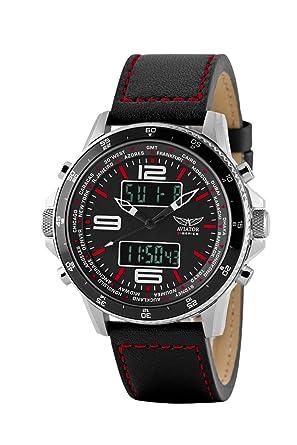 aviator avw1931g253 ana digital watch for men black amazon co uk aviator avw1931g253 ana digital watch for men black