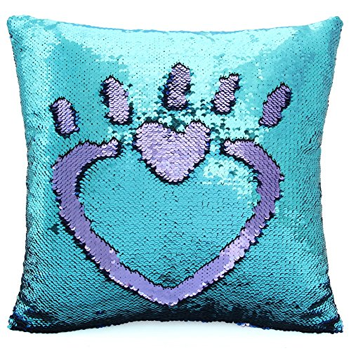 MHJY Sequin Pillow with Insert, 16