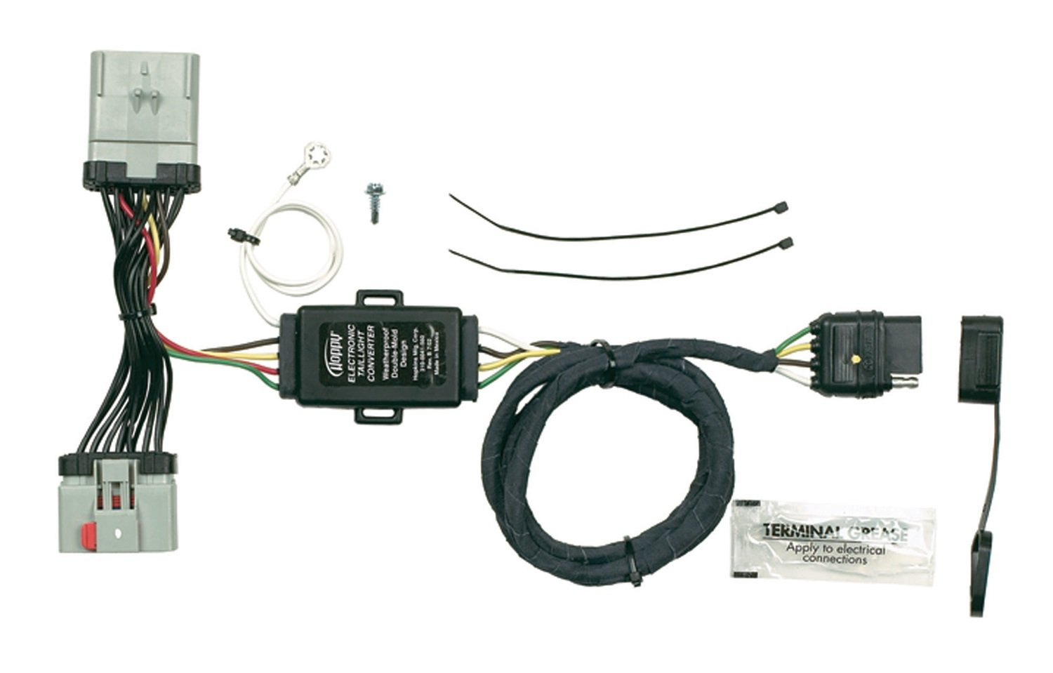 61a1DM22CCL._SL1500_ amazon com hopkins 42475 plug in simple vehicle wiring kit 2006 jeep liberty trailer wiring harness at couponss.co