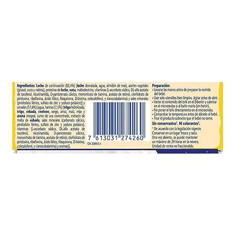 Nestlé Leche y Cereales Pijama - Alimento Para bebés - Paquete de 6x2 unidades de 250ml: Amazon.es: Alimentación y bebidas