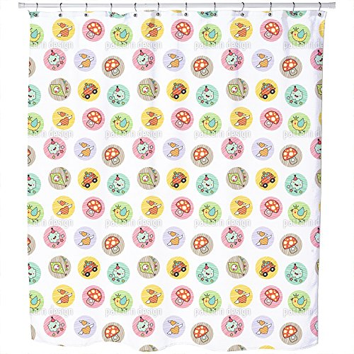 Uneekee Kids Outdoor Fun Shower Curtain: Large Waterproof Luxurious Bathroom Design Woven Fabric by uneekee