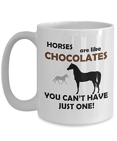 Amazon.com: Horse Riding Coffee Mug Tea Cup - Horses are Like ...