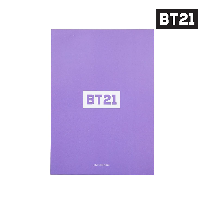 BT21 Mang Notepad B5 One Size White_Purple