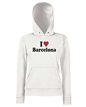 T-Shirtshock - Sudadera hoodie para las mujeras WC0408 I Love Heart Barcelona, Talla L: Amazon.es: Ropa y accesorios