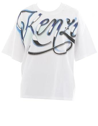 87c0e0afd KENZO Women's F751ts89299101 White Cotton T-Shirt: Amazon.co.uk: Clothing
