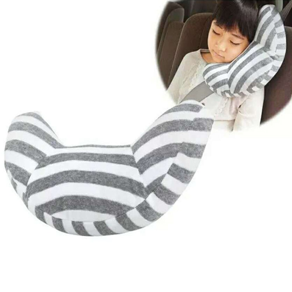 Car Seat Travel Pillow Cushion Pad and Seatbelt Adjuster for Cars Safety Strap Covers (Pack of 2)
