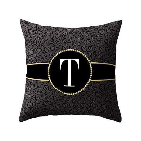 LIUguoo Pillowcases Funda de cojín Cuadrada Decorativa con ...