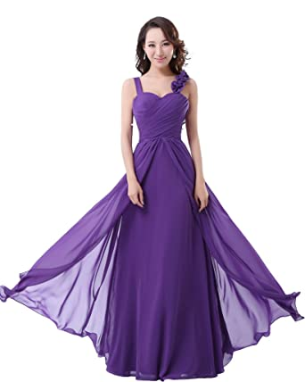 Charmangel Womens Formal Bridesmaid Dress Evening Party Gown Size 20 Purple