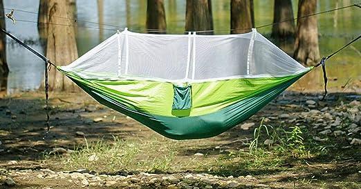 SQDC Hamaca al Aire Libre Columpio Adulto Adulto Cuna mosquitera Silla Colgante hogar Dormitorio Dormitorio Cama Neta: Amazon.es: Jardín