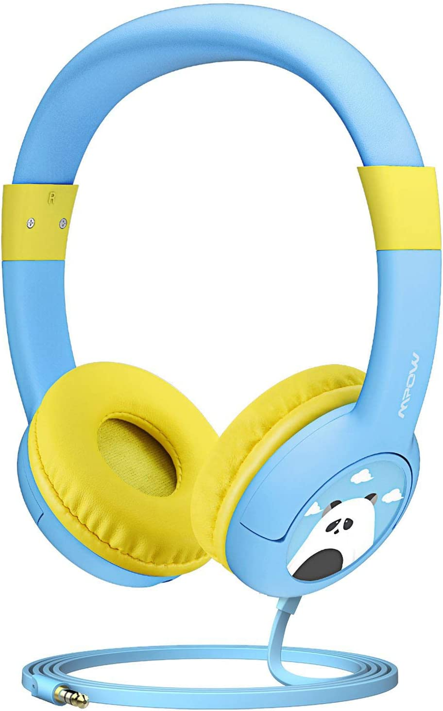 Mpow CH1 Kids Headphones w 85dB Volume Limited Hearing Protection Music Sharing Function, Kids Friendly Safe Food Grade Material, Tangle-Free Cord, Wired On-Ear Headphones for Children Toddler Baby
