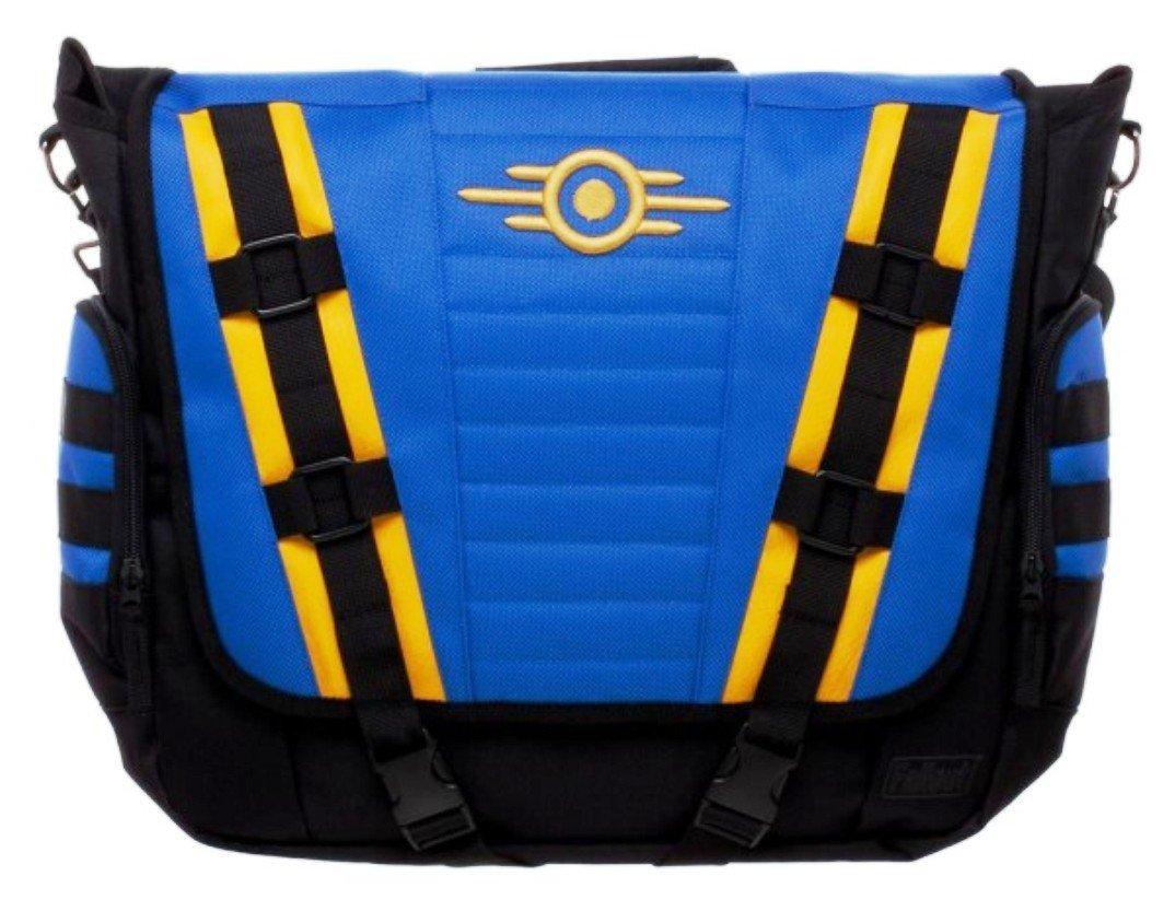 Fallout Vault-Tec Large Blue Messenger Bag durable modeling - b-u-t ... bda455aa971f2