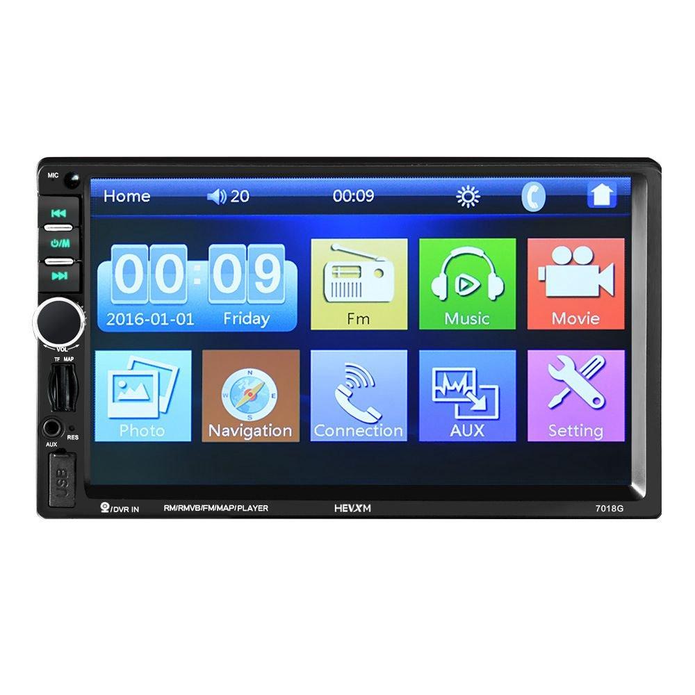 REFURBISHHOUSE HEVXM Reproductor Multimedia de Coche 2 DIN + Navegacion GPS con Control del Volante Pantalla tactil HD de 7 Pulgadas Bluetooth Autoradio MP5 ...