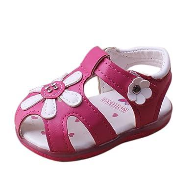 huateng Bébé LED Première Marche Chaussures Lumière Fille Sandales Doux Bas Princesse Chaussures Casual Chaussures Printemps Été Nouveau
